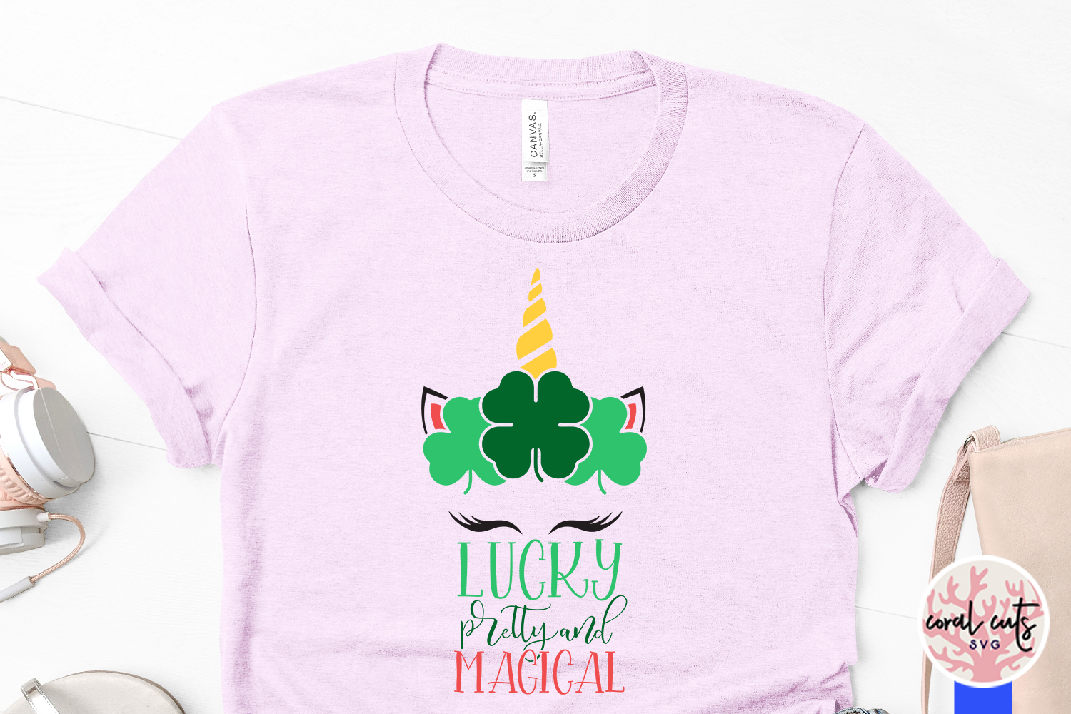 Lucky pretty and magical - St. Patrick's Day SVG EPS DXF PNG example image 3