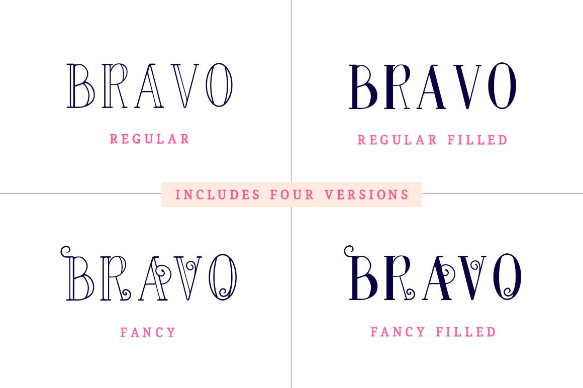 Bravo Sir Font Family example image 2