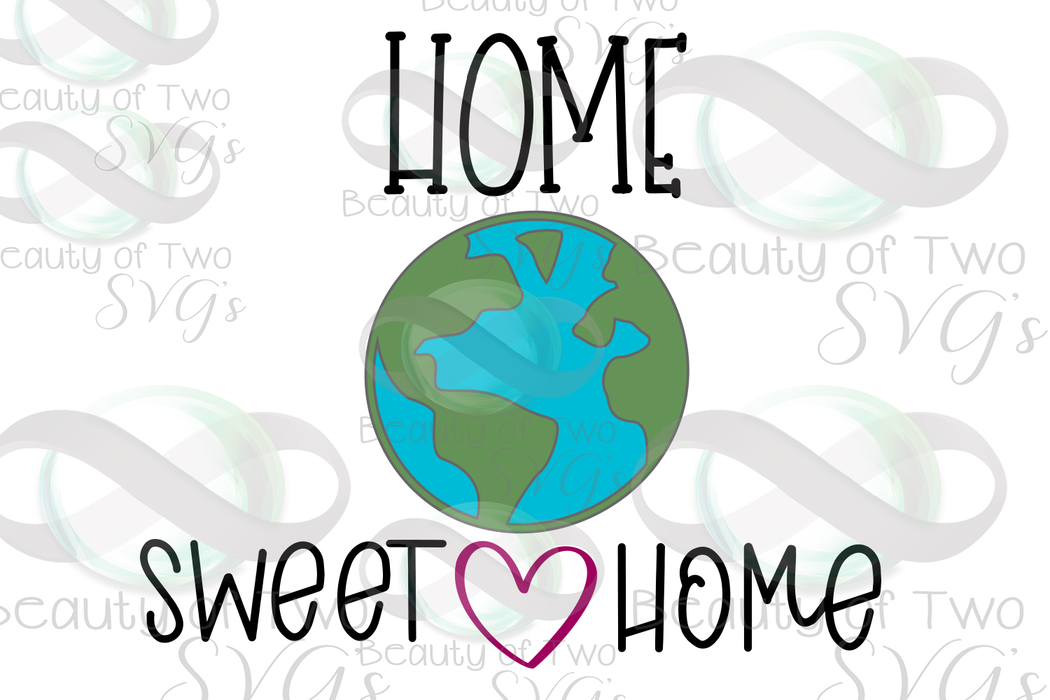 Earth Day svg and png, Home Sweet Home Earth svg, Earth Day example image 3