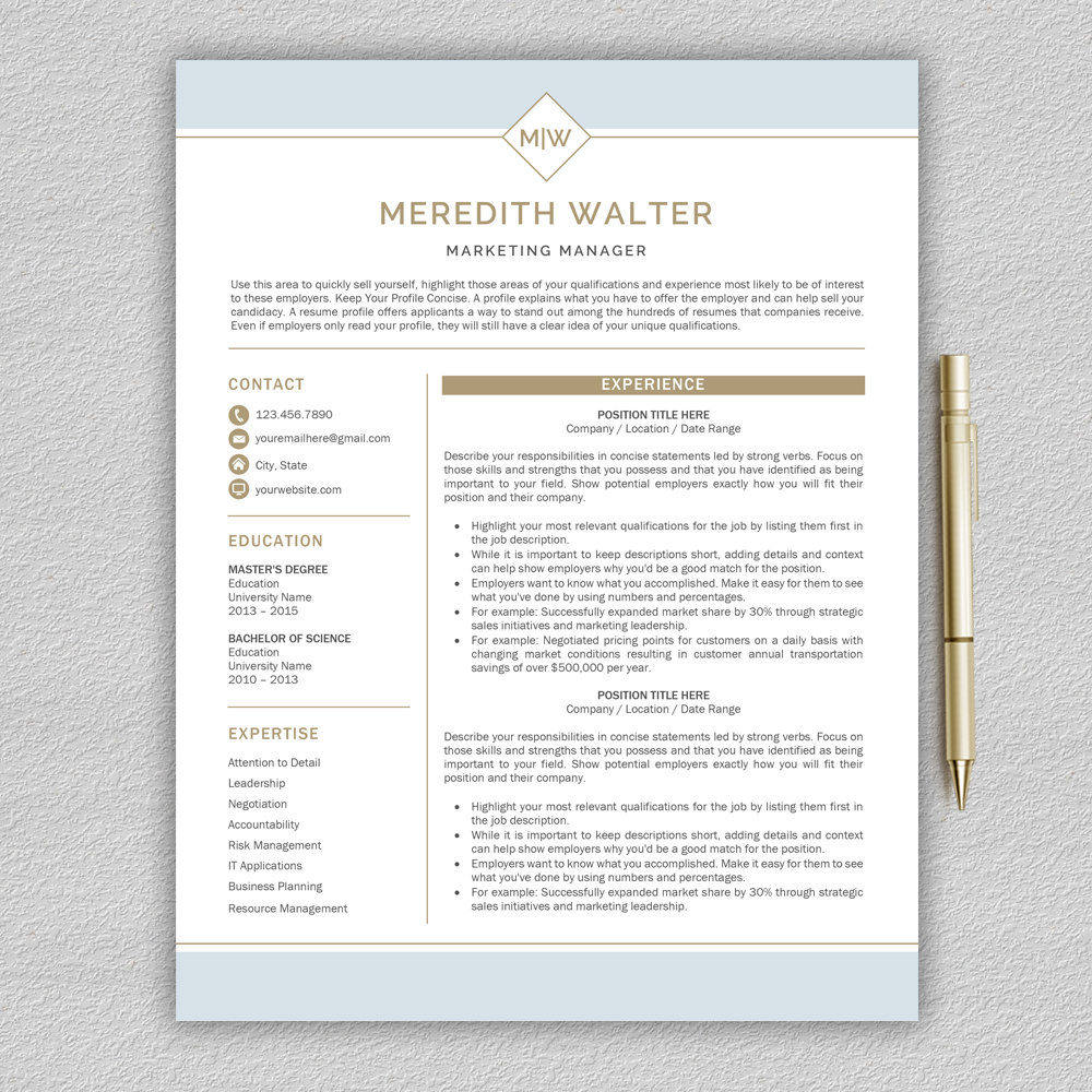 Resume Template / CV Templates, Professional Resume Template example image 2