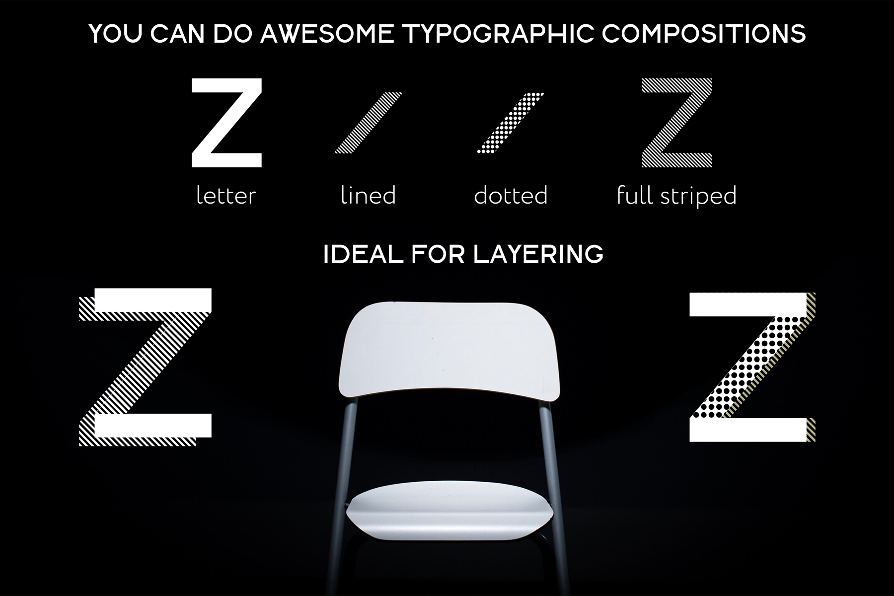 DOTS & LINES uppercase modern font example image 5