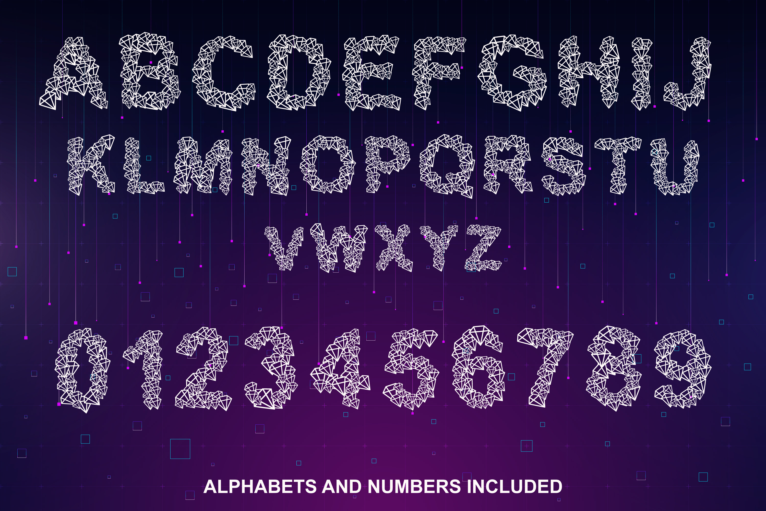 Diamond Font - Diamond Shapes Font for You example image 2