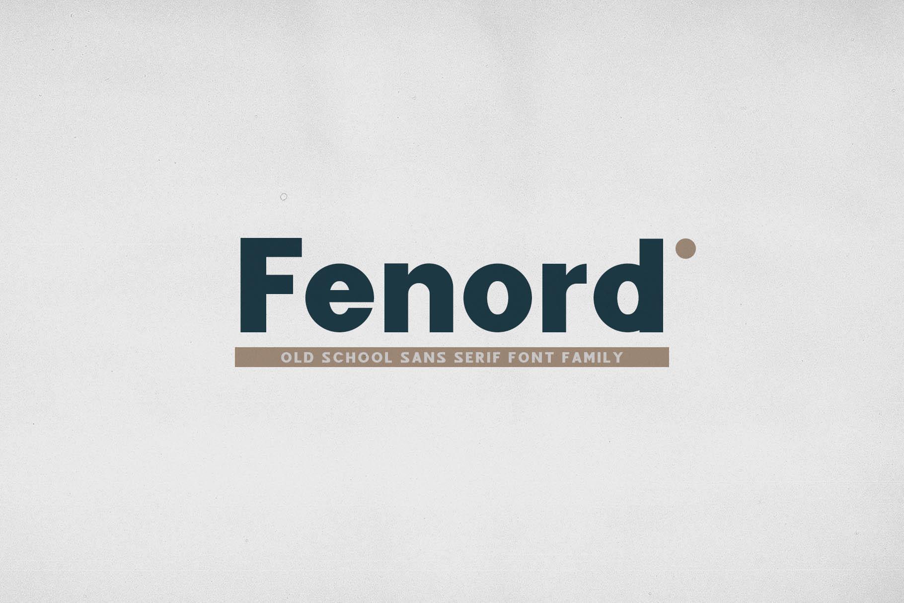 Fenord - Old School Sans Serif example image 1