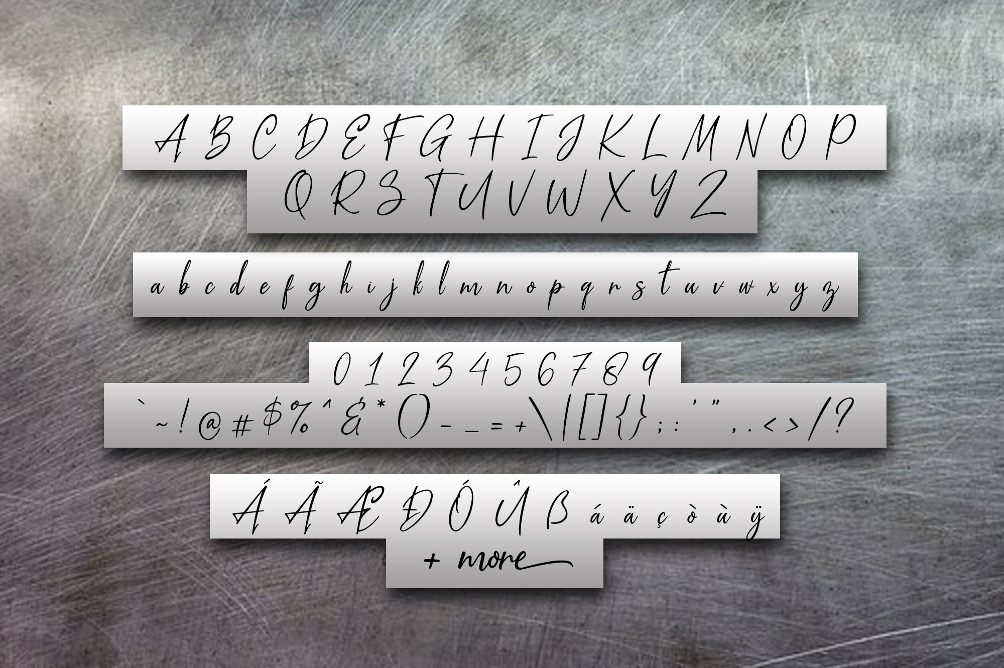 Metal Pen Script 3 Fonts example image 6