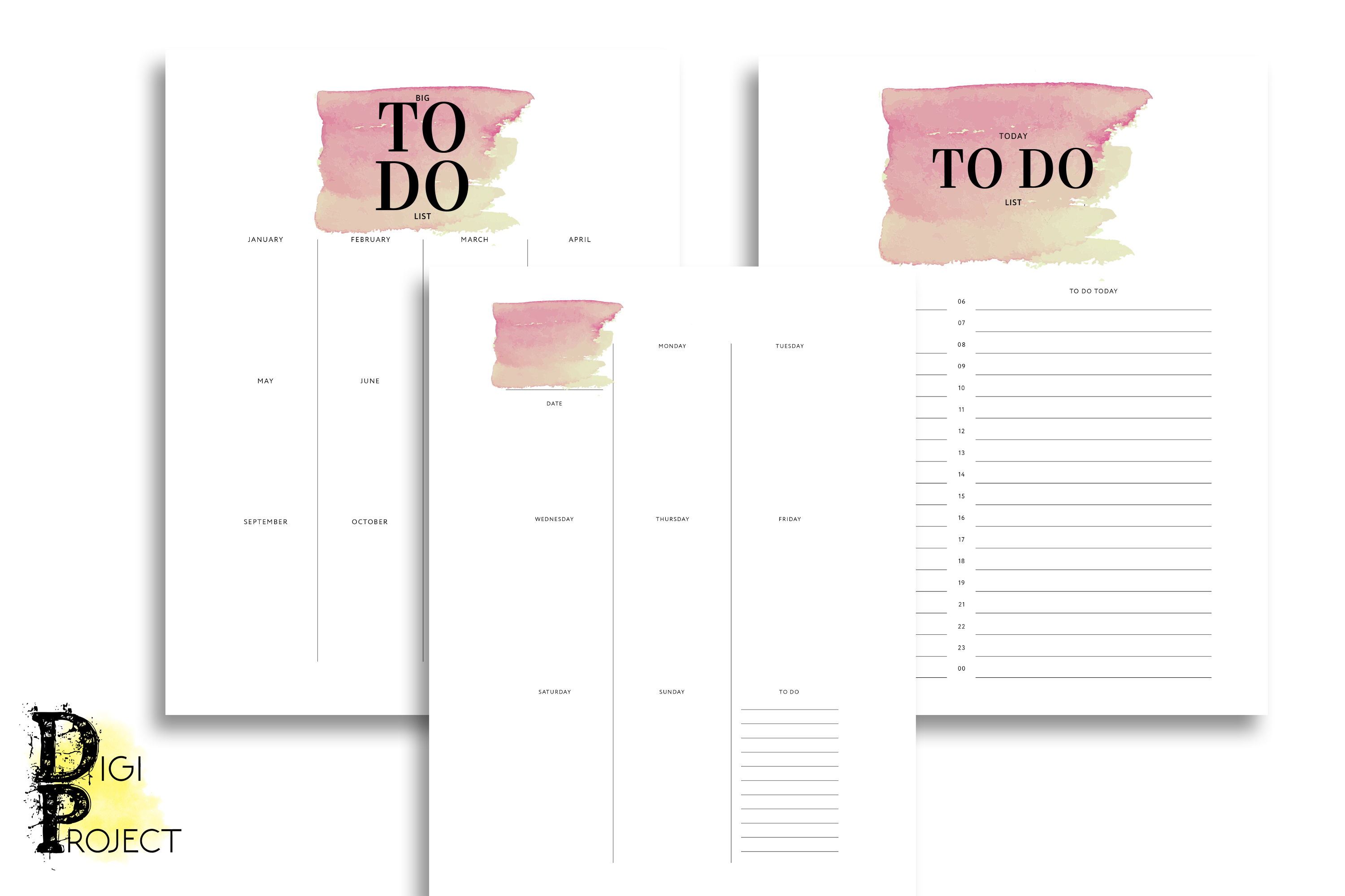 Printable Watercolor 2020 Life Planner Kit example image 3