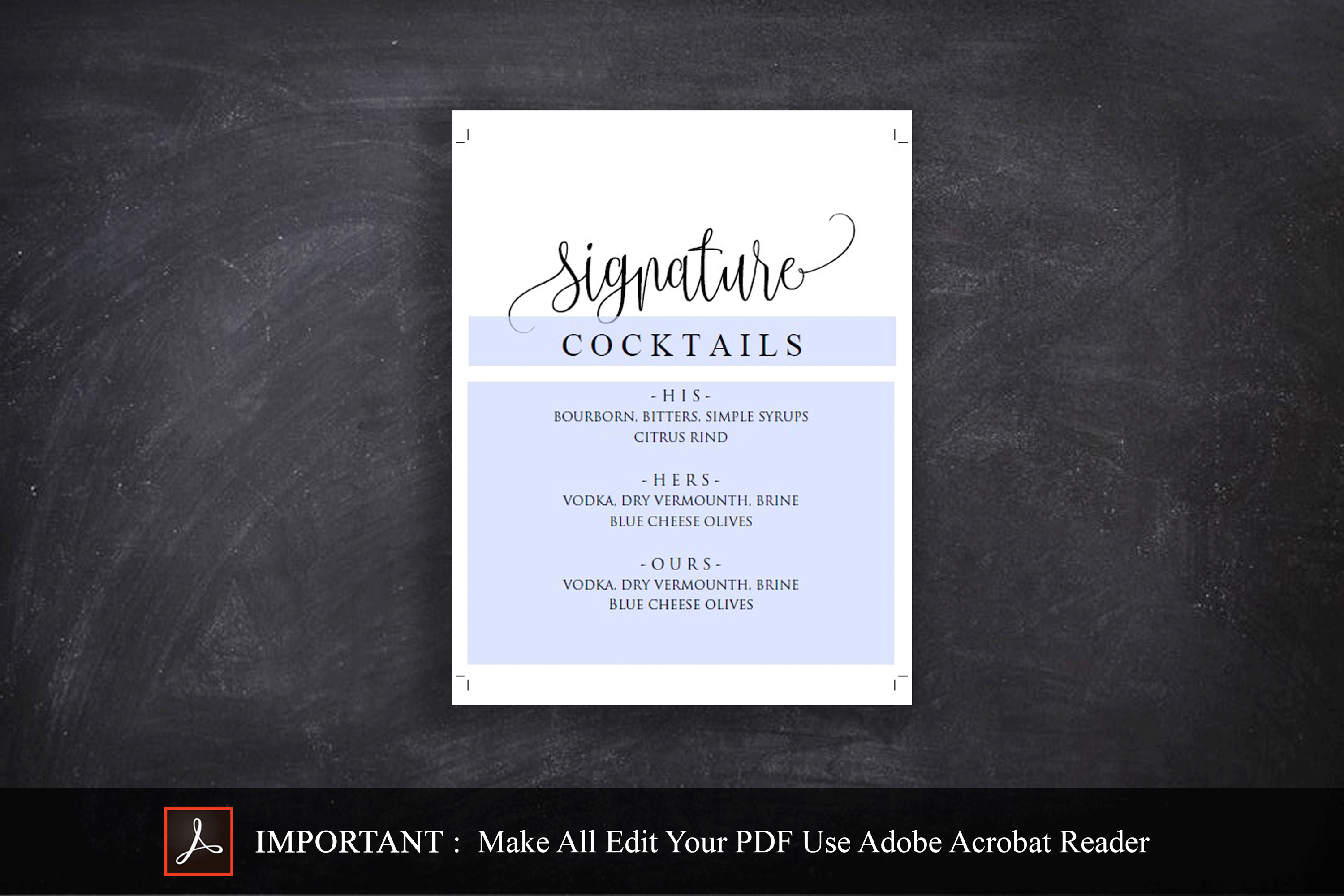 Signature Cocktail Sign Wedding example image 3