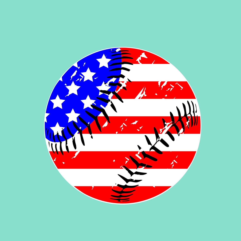 Softball SVG example image 1