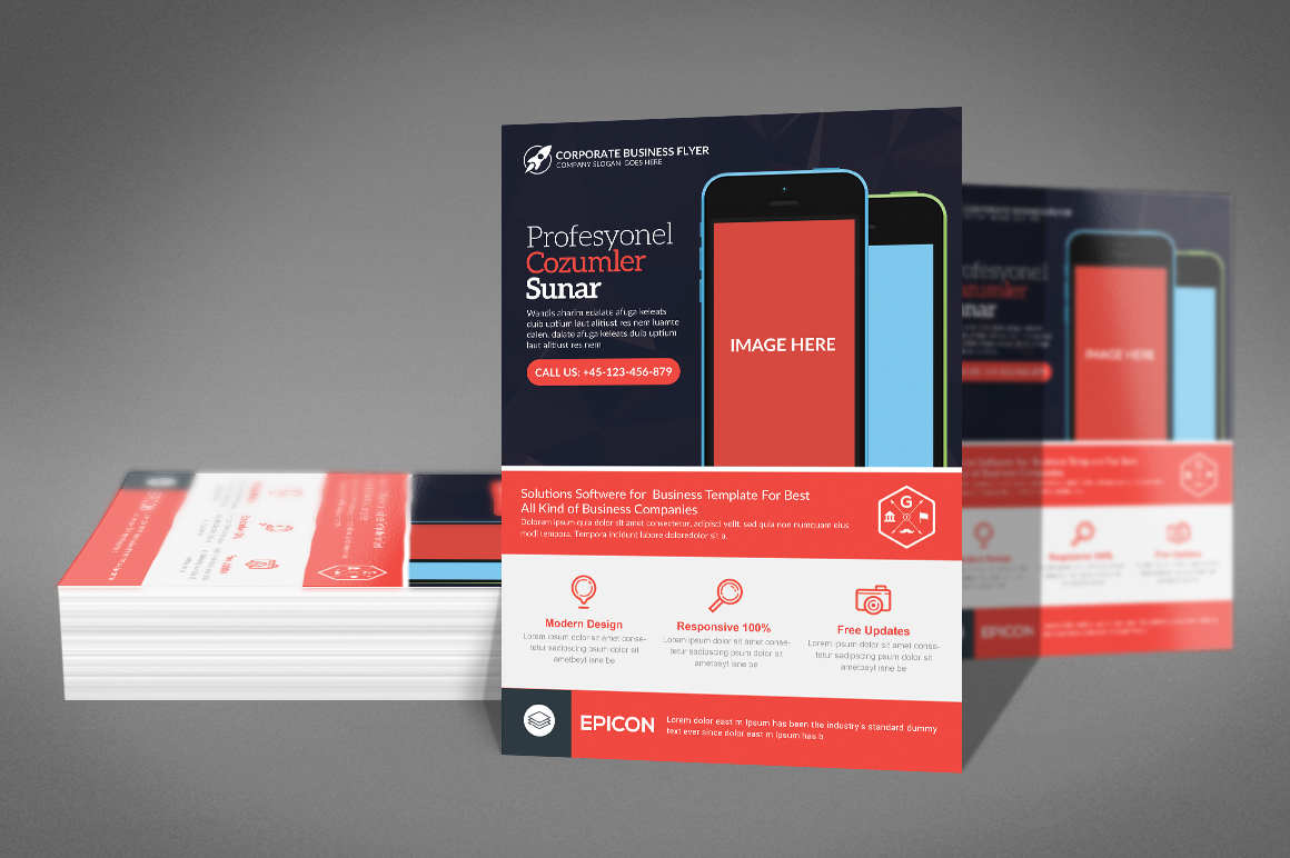 Business Flyer Psd example image 3