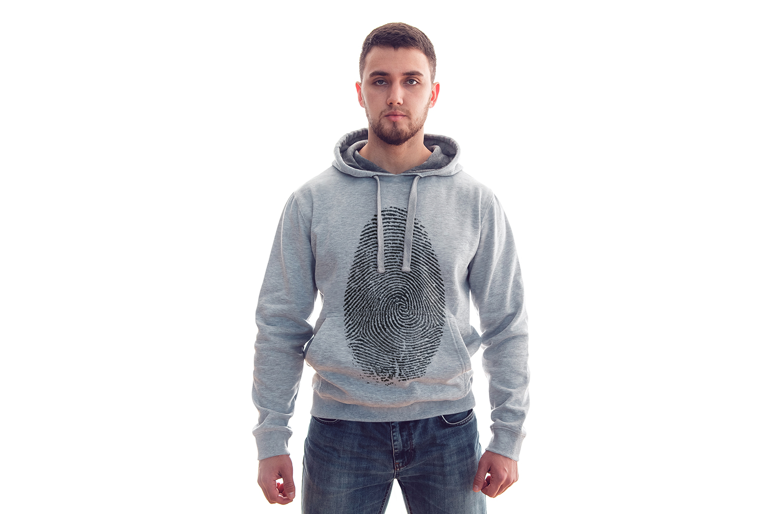 Men's Hoodie Mock-Up example image 5