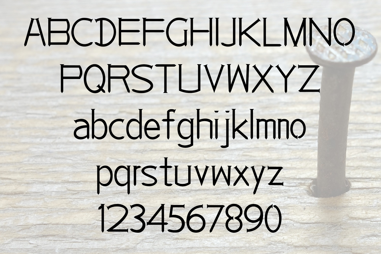 EP Nails - Fancy Typeface example image 2