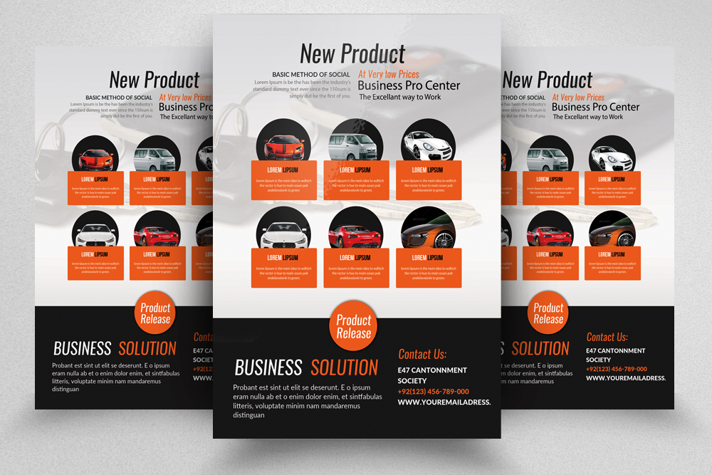 New Car Business Flyer Template example image 1