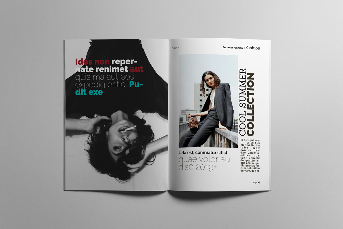 Magazine layout design example image 9