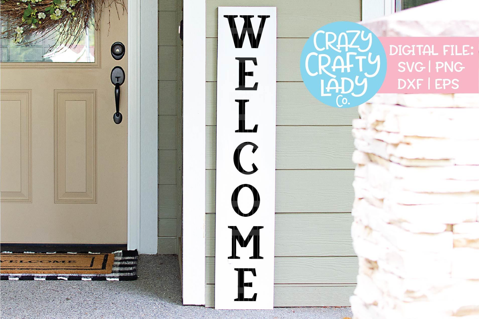 Welcome Porch Sign SVG DXF EPS PNG Cut File Bundle example image 7