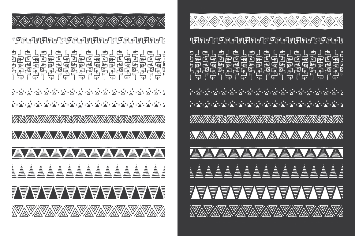 Hand Drawn Pattern Brushes Vol. 04 example image 5