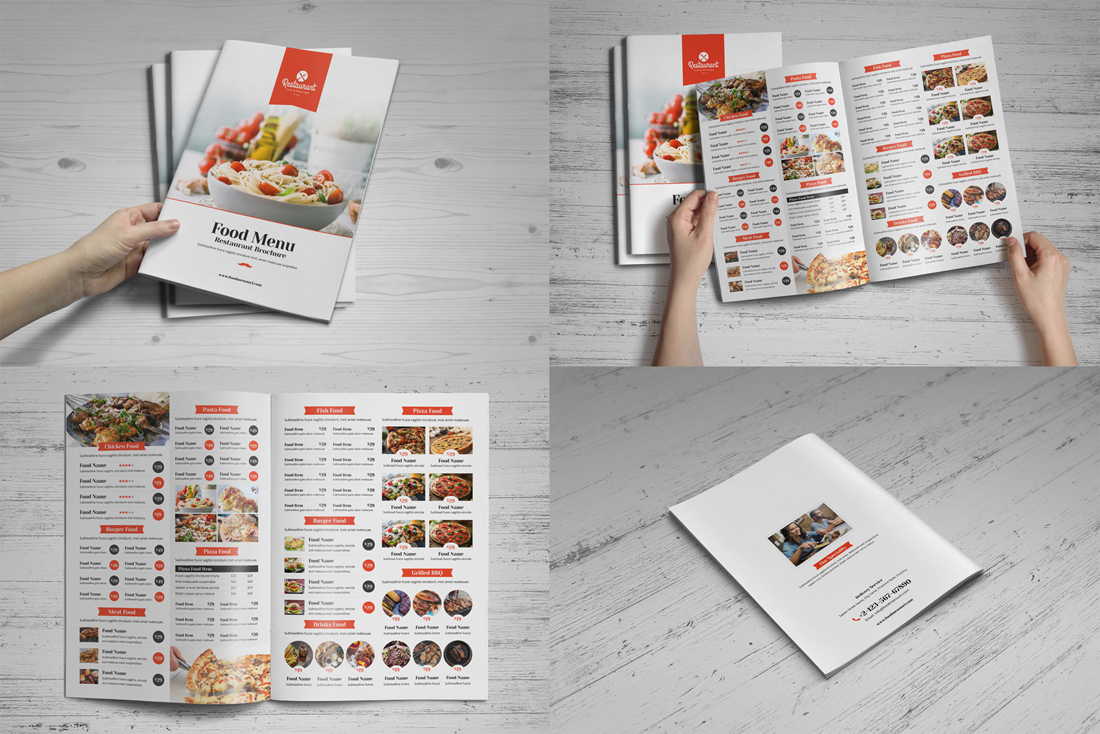 Food Menu Restaurant Brochure Bundle example image 4