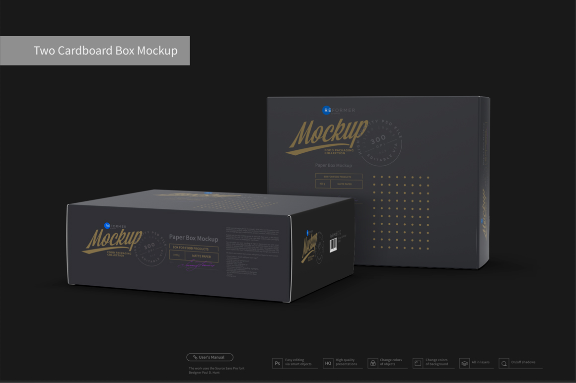 Two Cardboard Box Mockup example image 4