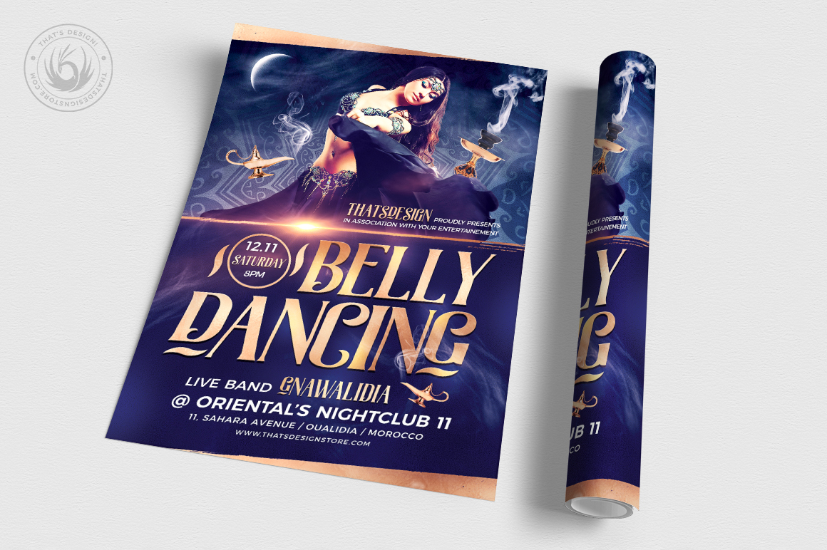 Belly Dancing Flyer Template V2 example image 3
