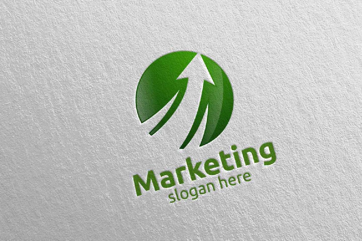 Marketing Financial Advisor Logo Design 27 example image 2