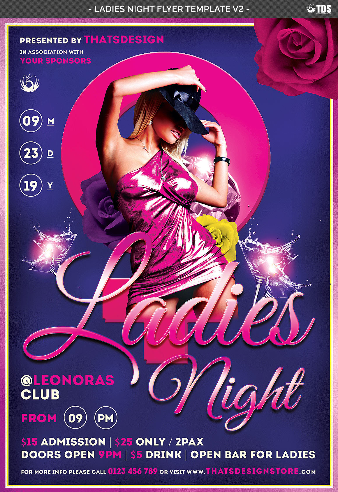 Ladies Night Flyer Template V2 example image 5