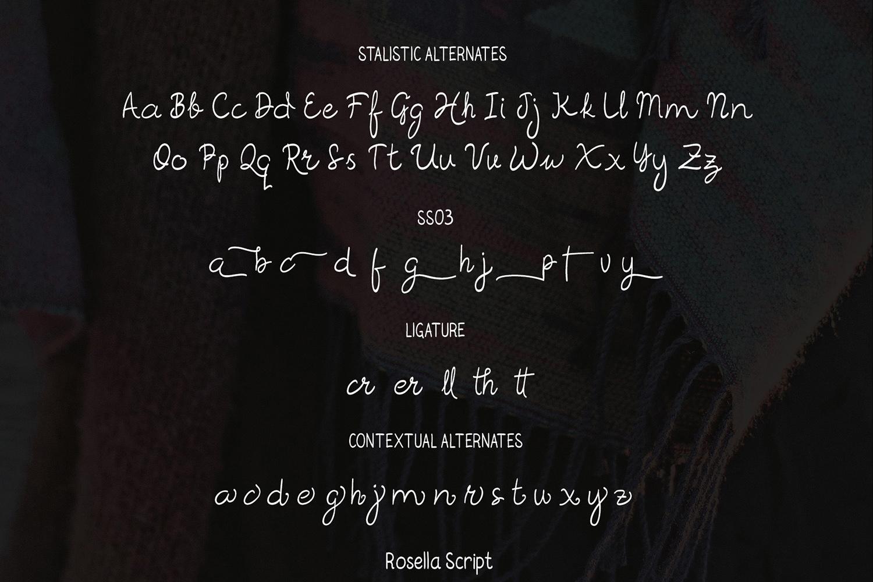 Rosella Script & Sans (Font Duo) example image 8