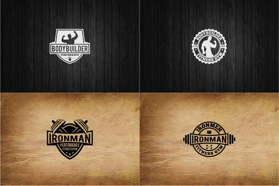 83 fitness gym bundle Logos Labels & Badges example image 14