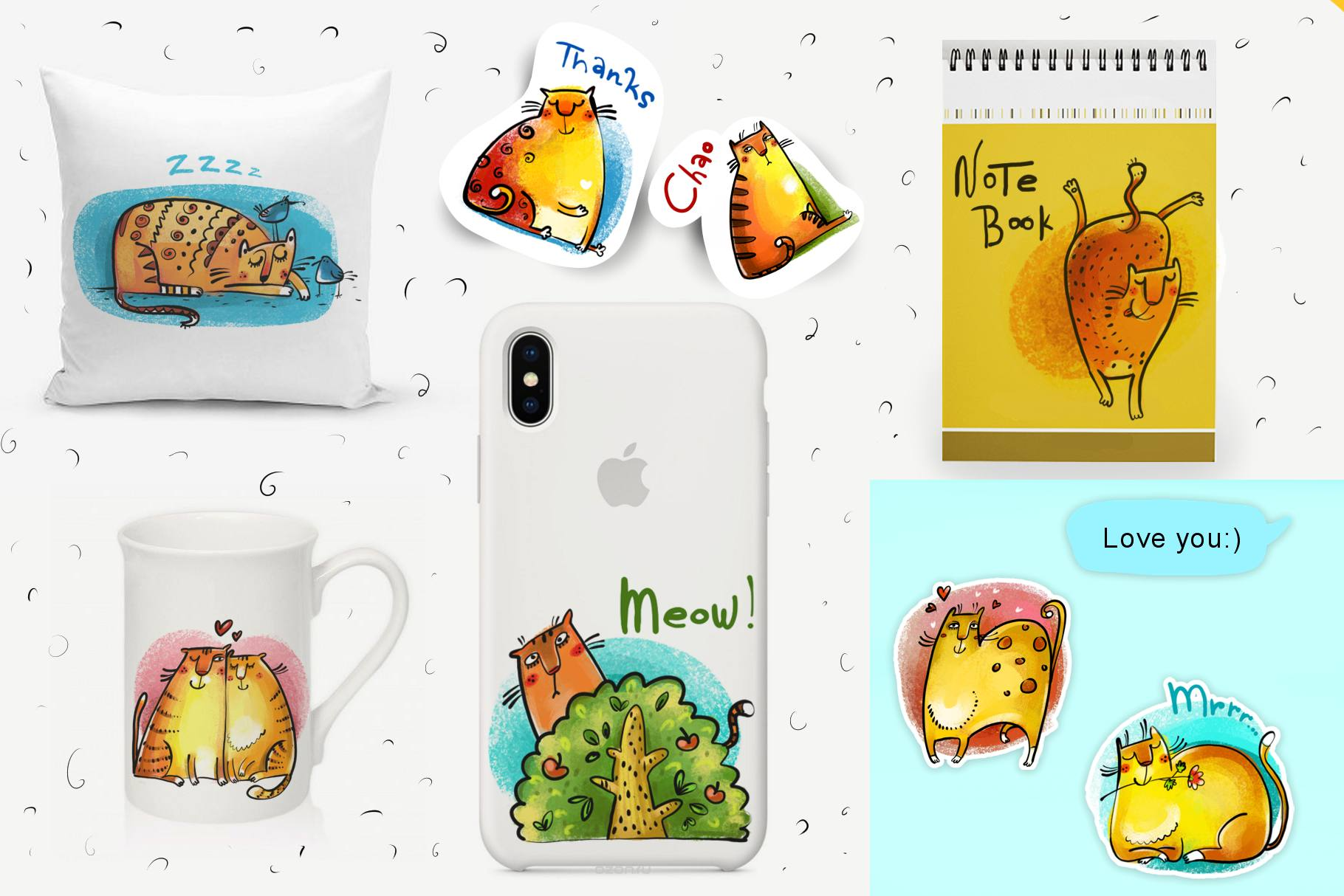 Wild Cats - sticker pack example image 3
