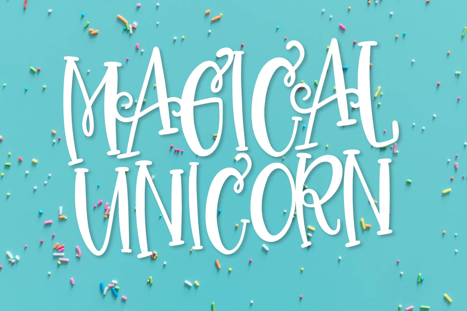 CLN - Magical Unicorn - A Hand Lettered Duo With Extras example image 1