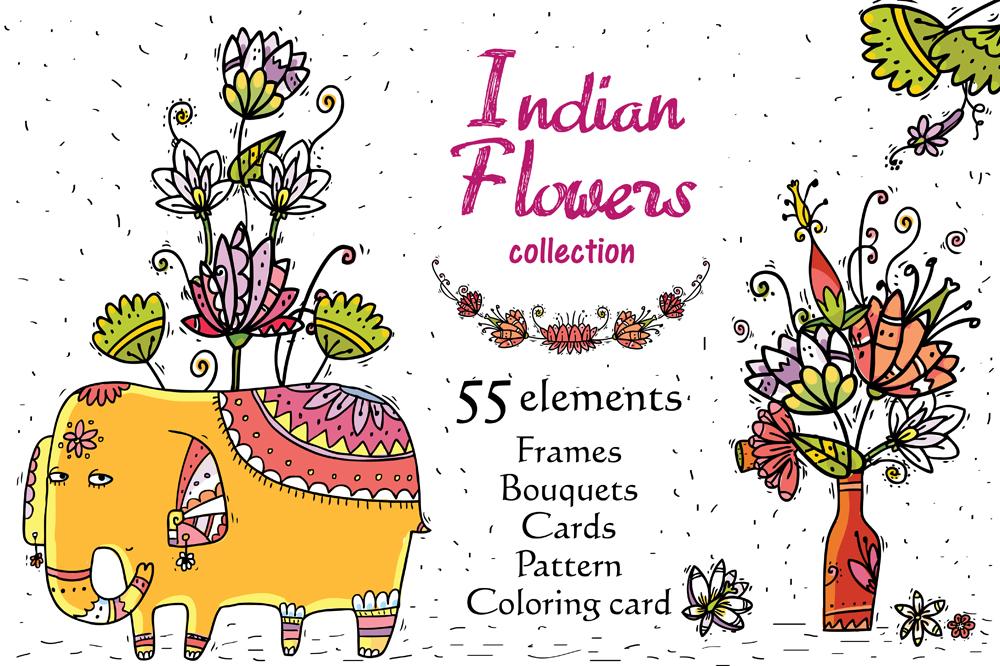 Big Indian Bundle - 145 objects example image 11