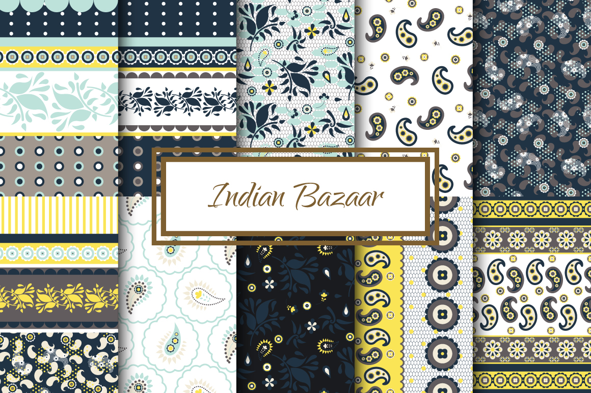 Indian Bazaar Seamless Patterns example image 3