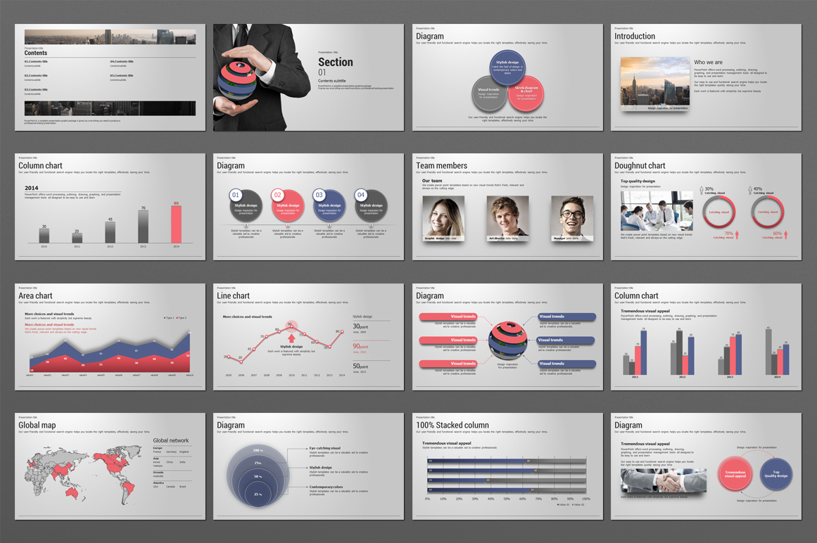 Global Business PowerPoint Template  example image 3