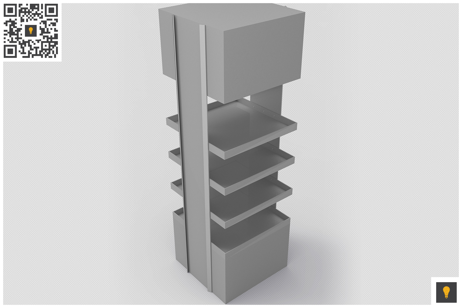 Promotional Store Shelf Stand 3D Render example image 2