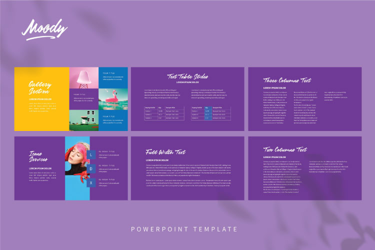 MOODY Powerpoint Template example image 4