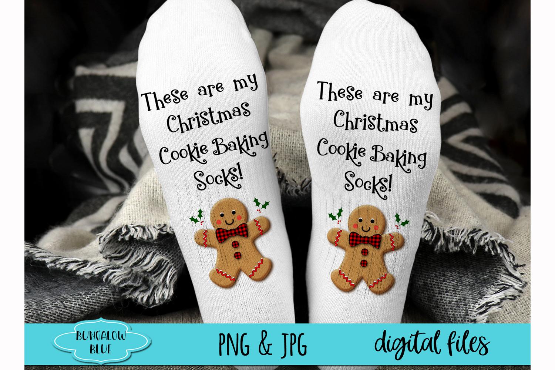 This Lets Get Baked Gingerbread Man Socks Digital Download example image 1