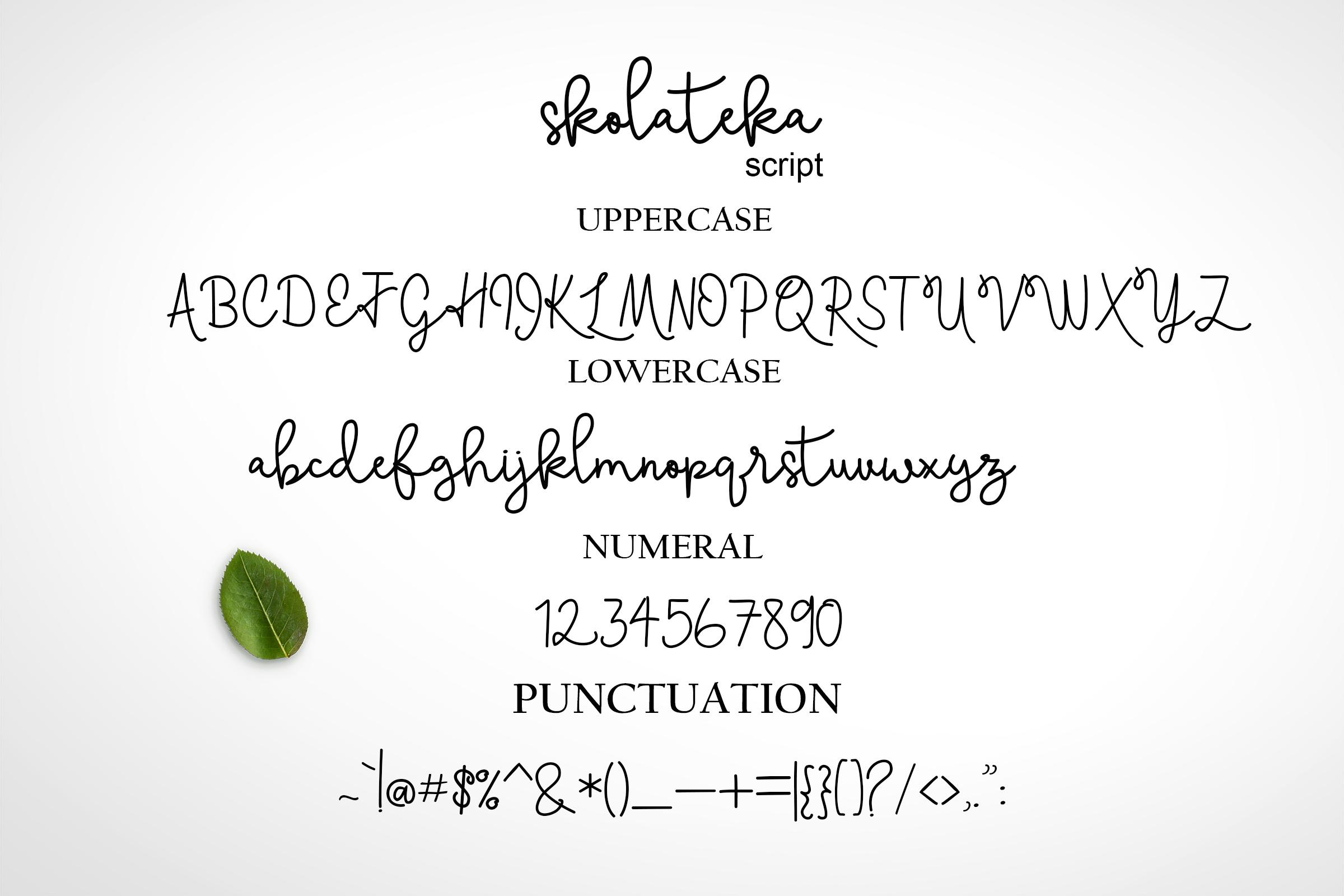 Skolateka Script - handwritten typeface example image 9