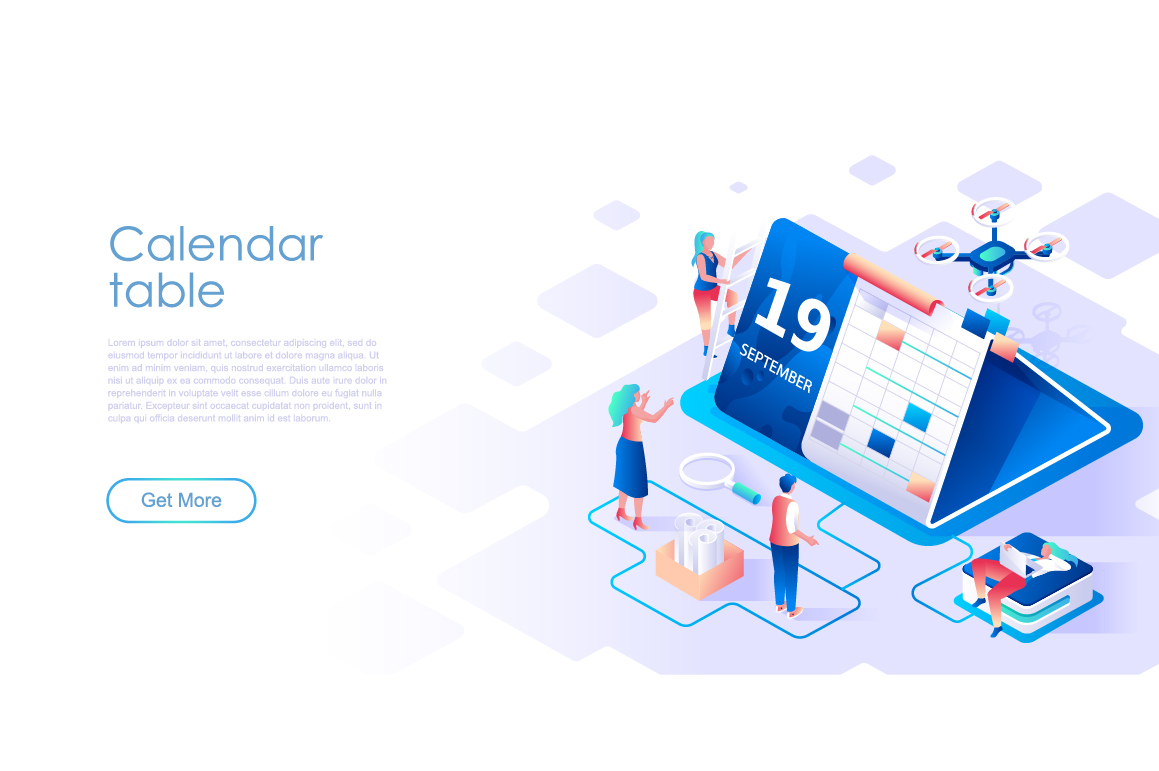 Bundle Isometric Landing Page Template Header example image 10