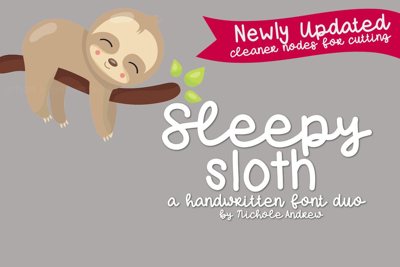 Sleepy Sloth, Handwritten Font Duo example image 1