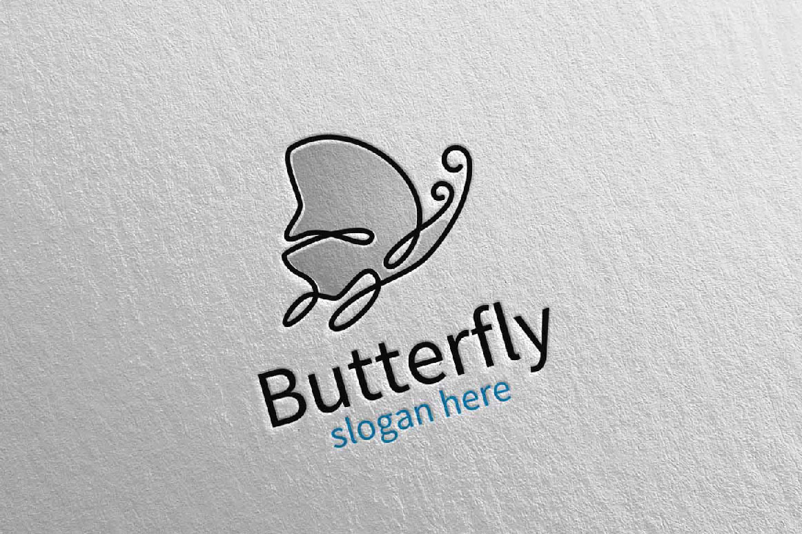 Butterfly Logo vol 17 example image 5