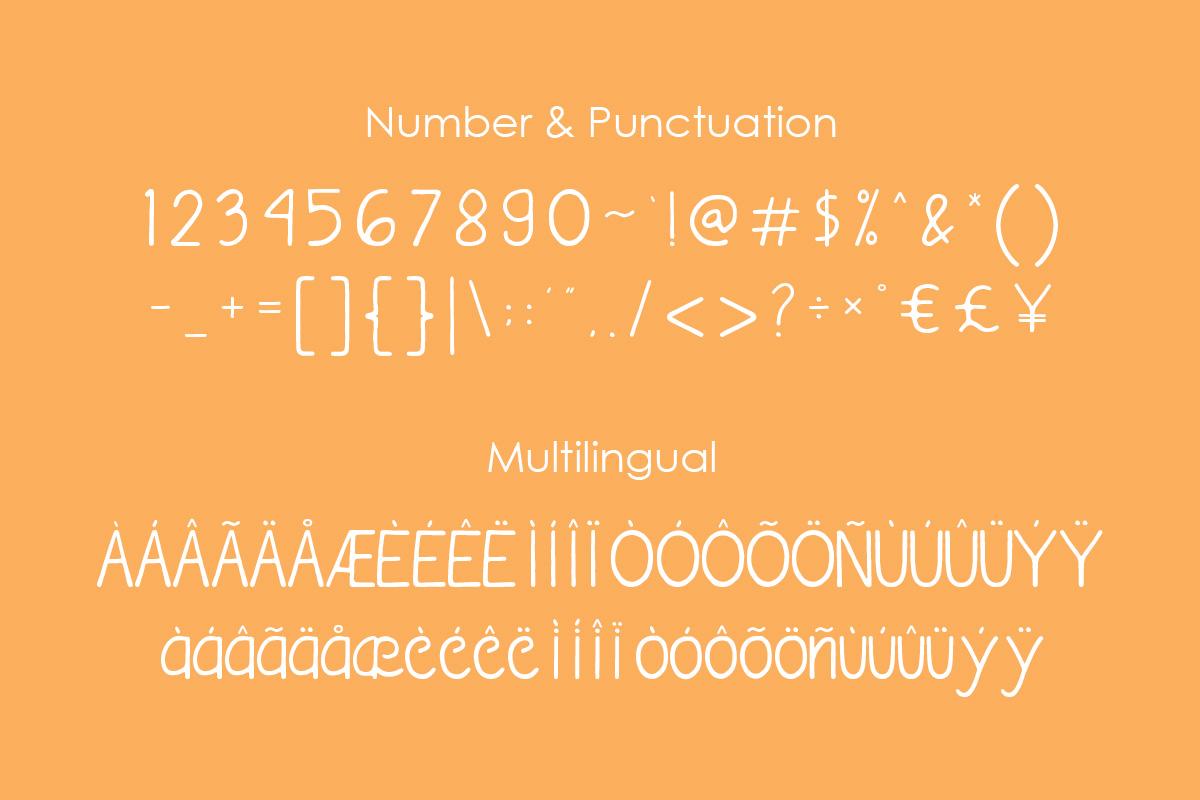 bananavia font example image 3