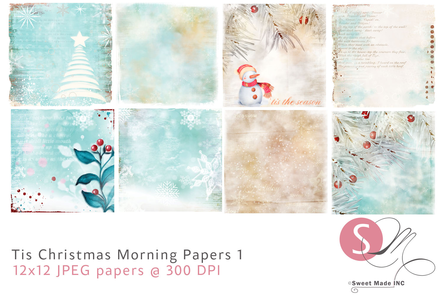Tis Christmas Morning Papers 1 example image 1