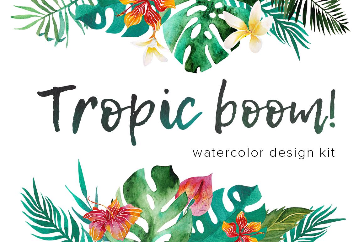 Tropic boom! watercolor designer kit example image 1