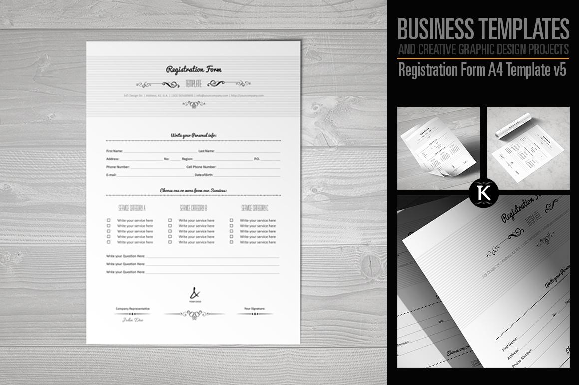 Registration Form Template v5 example image 1