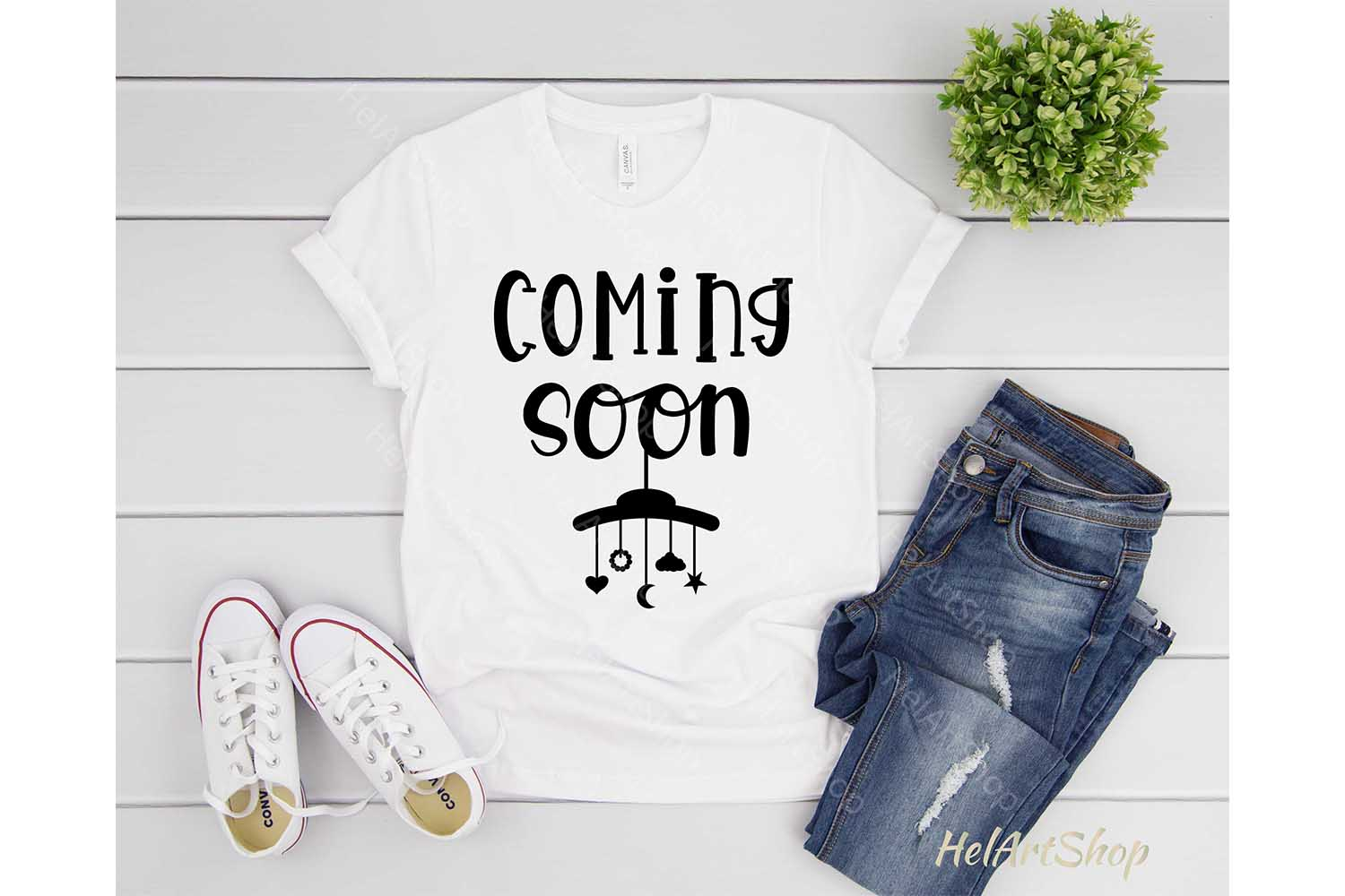 Coming Soon svg, pregnancy svg, baby shower svg, maternity example image 2