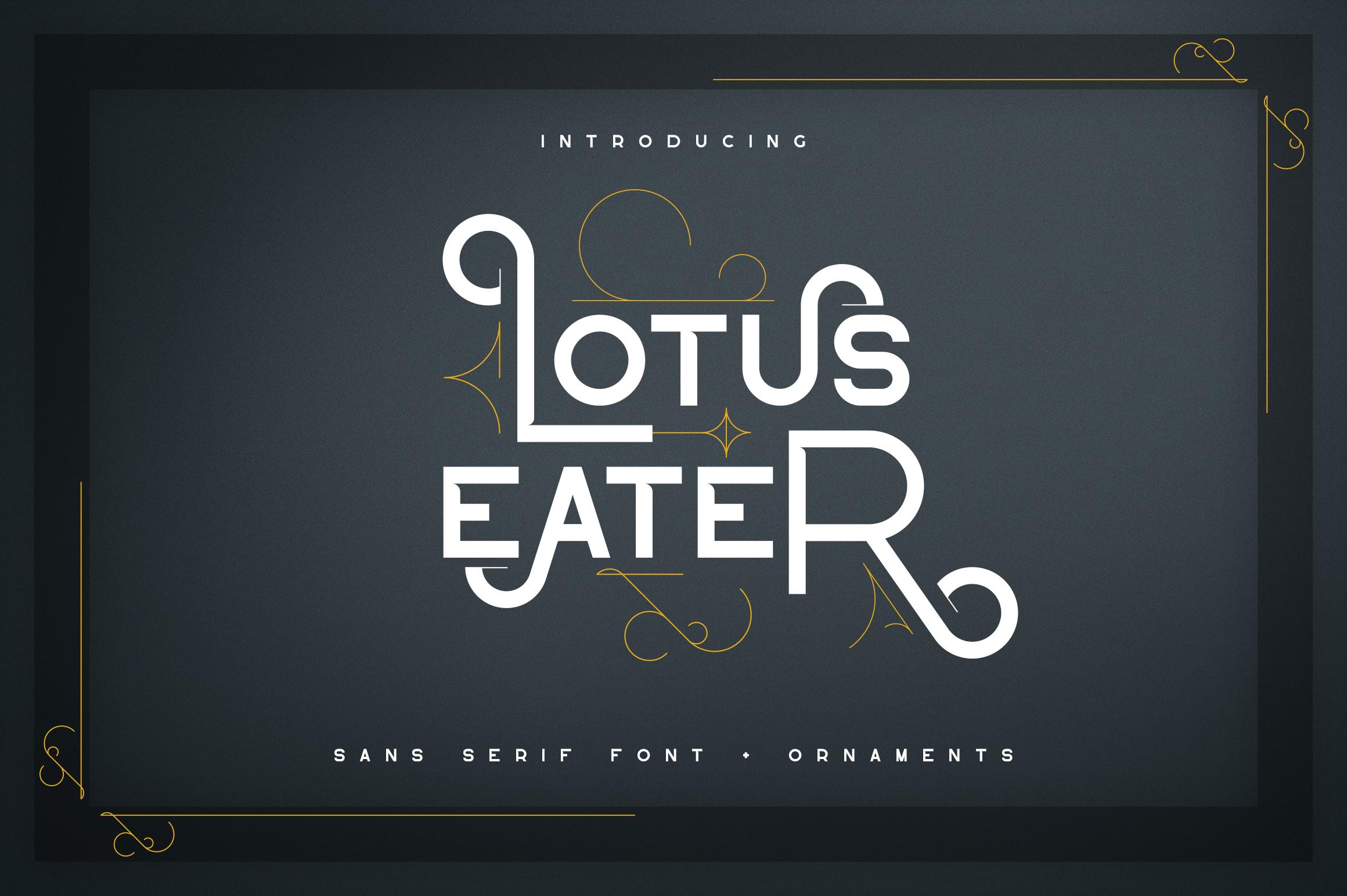 Lotus Eater - sans serif font example image 1