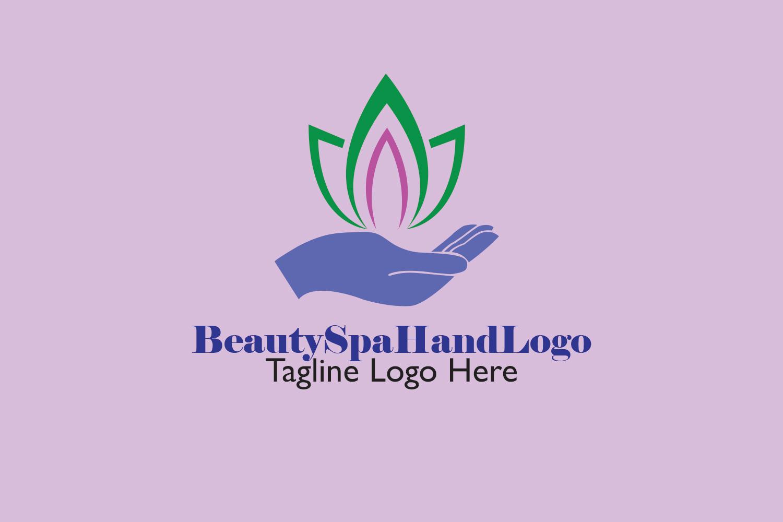 Premium Beauty Spa Hand Logo example image 3