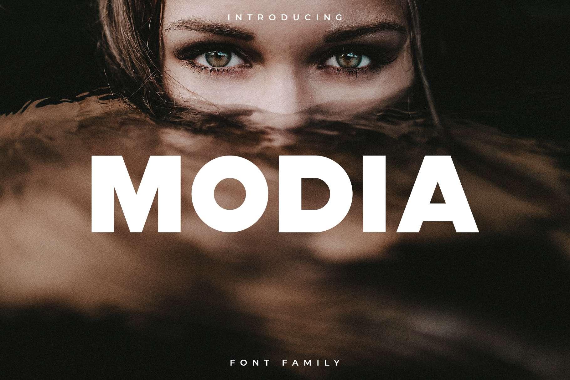 Modia Font Family - Sans Serif example image 1