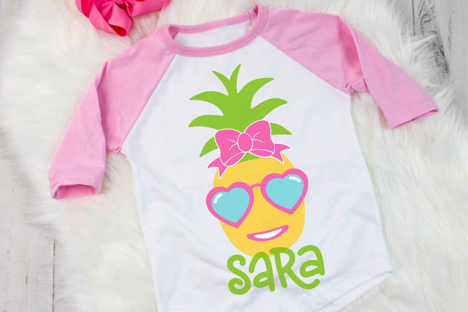 Pineapple Girl - Summer - Pineapple SVG example image 2