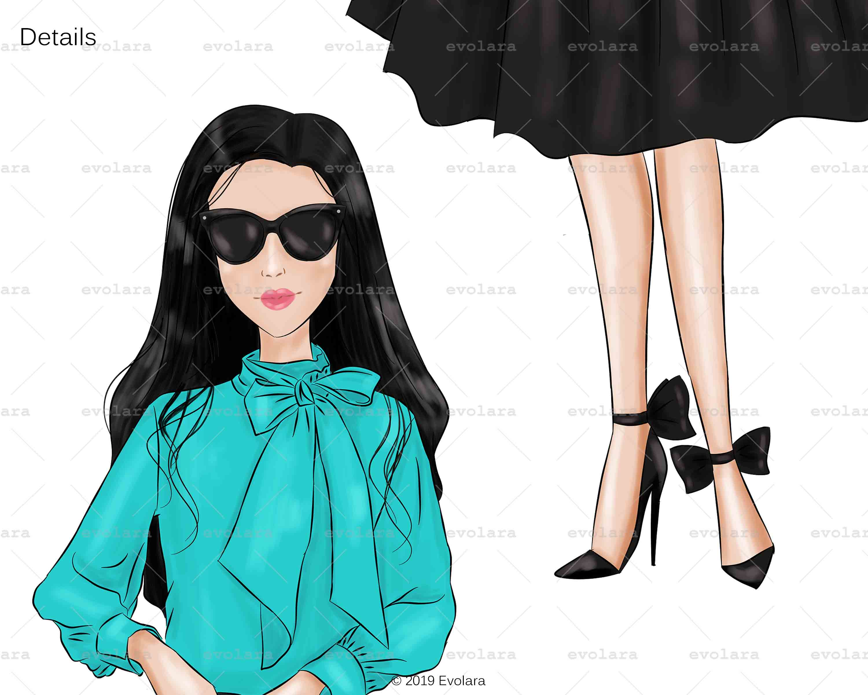 Blue Mint Clipart Fashion Illustrations Breakfast At Clipart example image 7