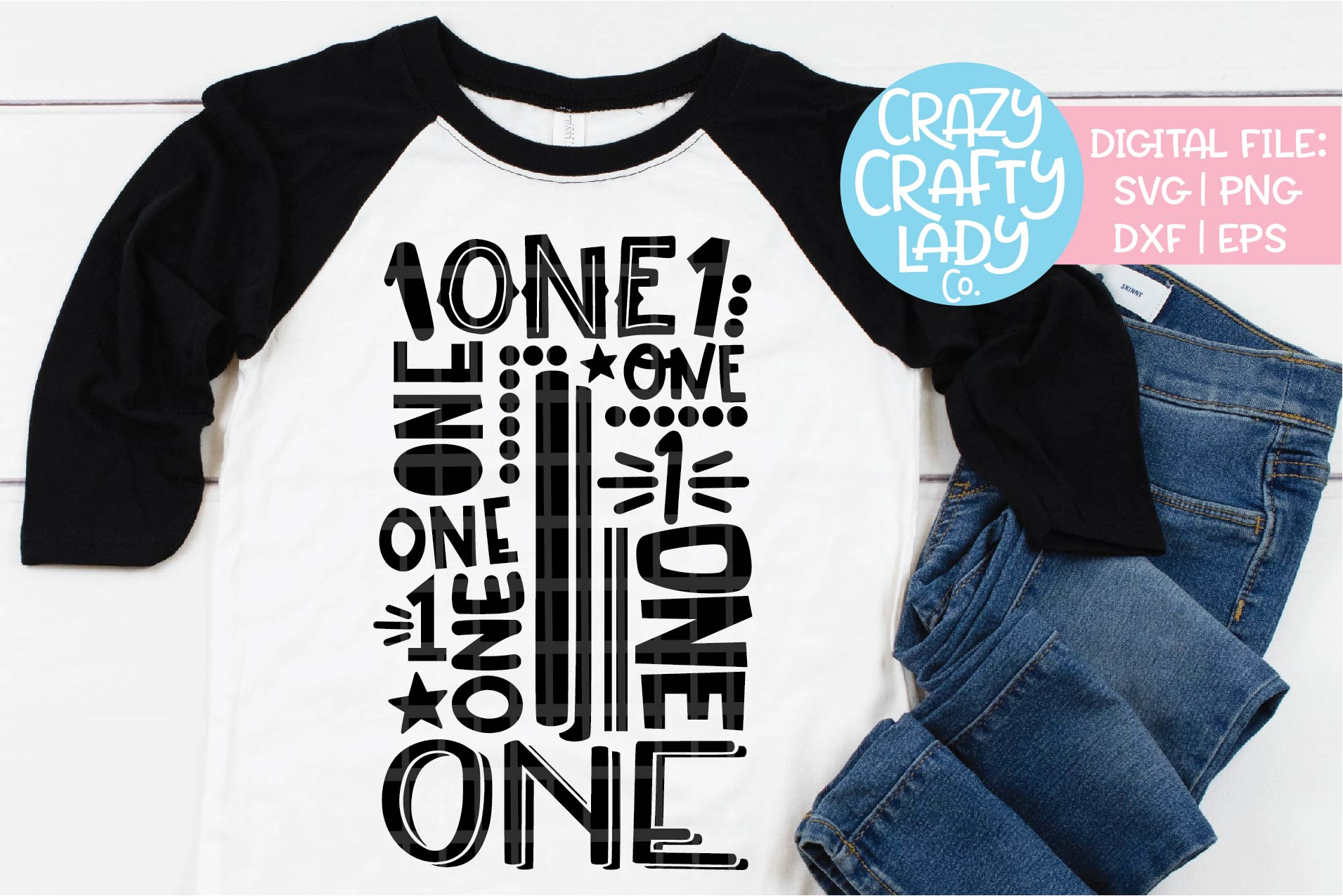 1st Birthday Collage Typography SVG DXF EPS PNG Cut File example image 1