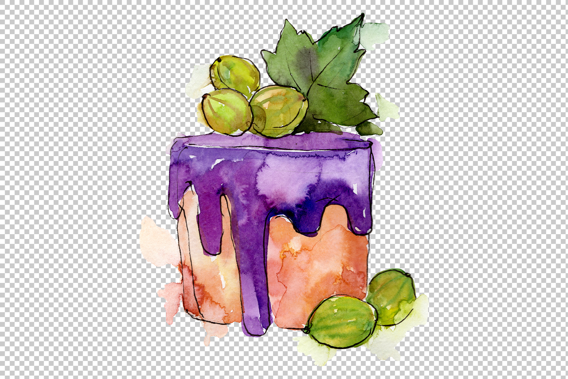 Fruit Dissert Watercolor png example image 3