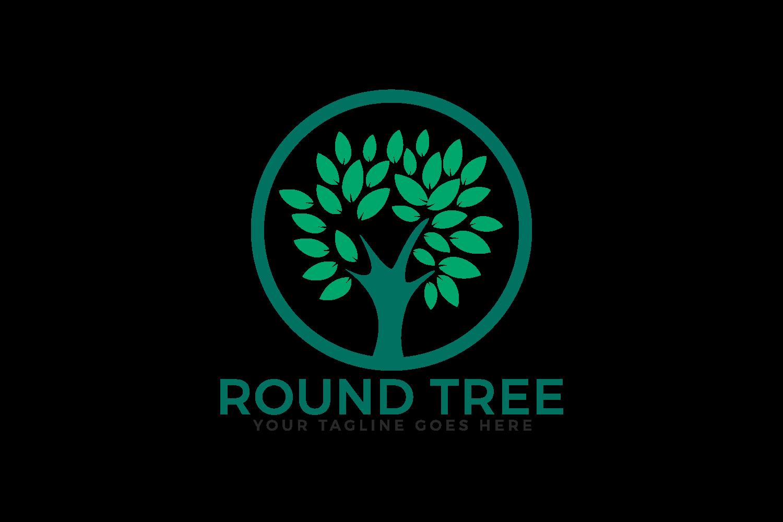 Round Tree Logo Design. example image 2